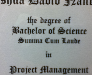 degree in project management